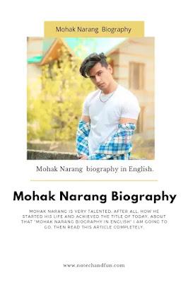 Mohak Narang Biography