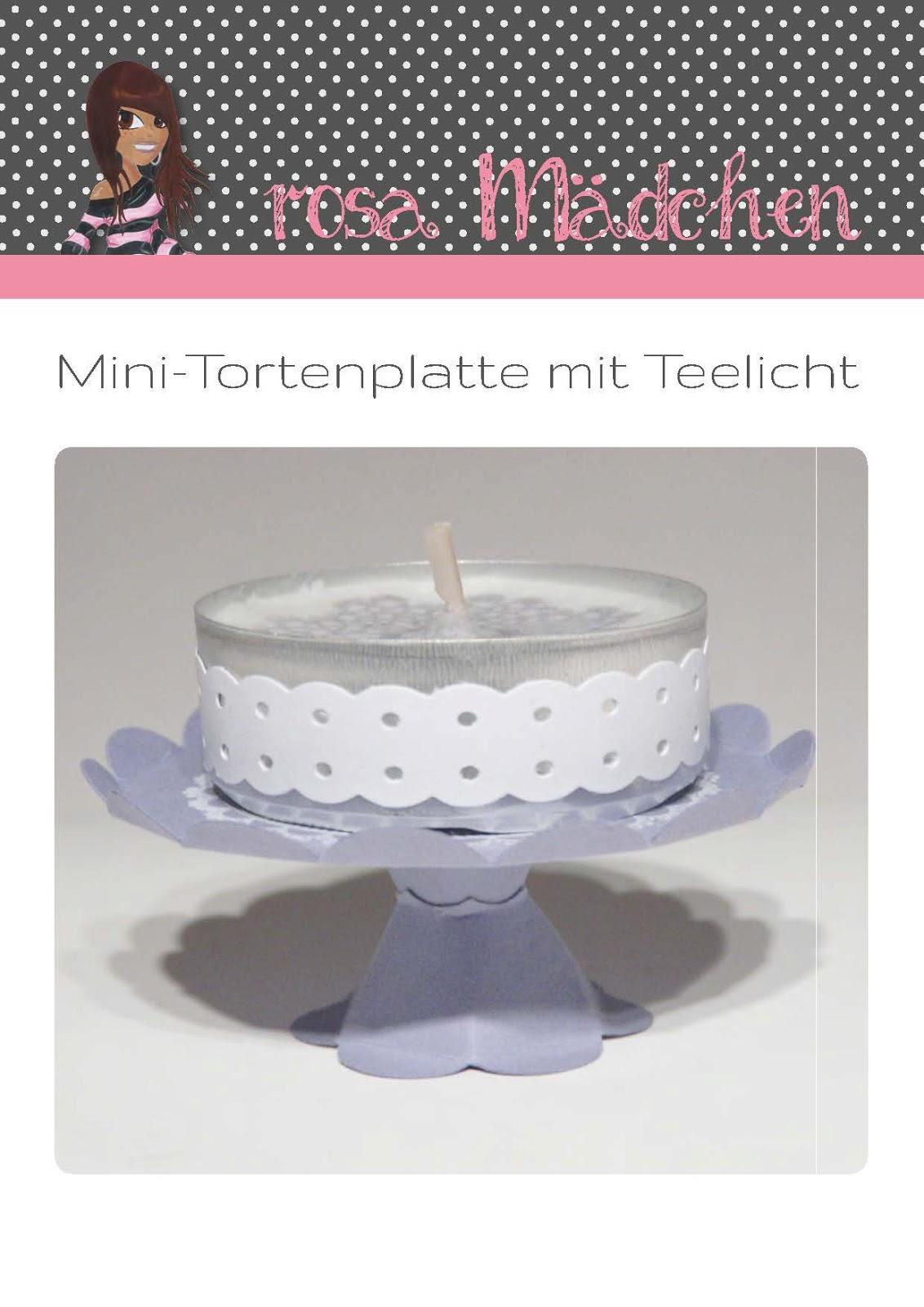 Stampin' Up! Anleitung zur Mini-Tortenplatte