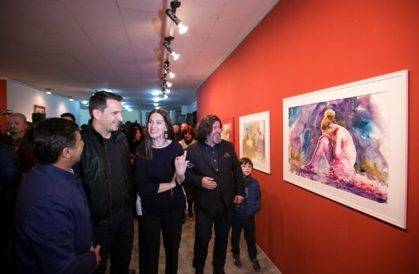 Opened the second edition of the International Biennale of Aquarel in Tirana