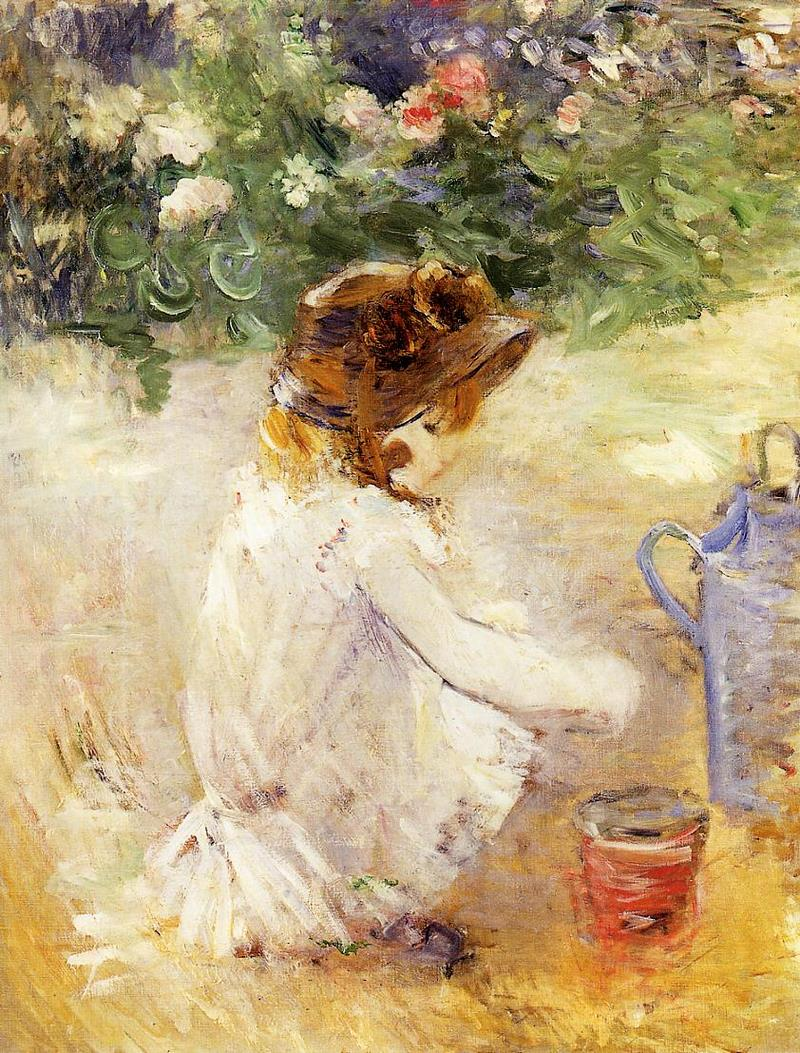 Playing In The Sand. Berthe Morisot  1882