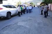 Walikota Sungai Penuh AJB Tinjau Ruas Jalan Dalam Kota Sungai Penuh