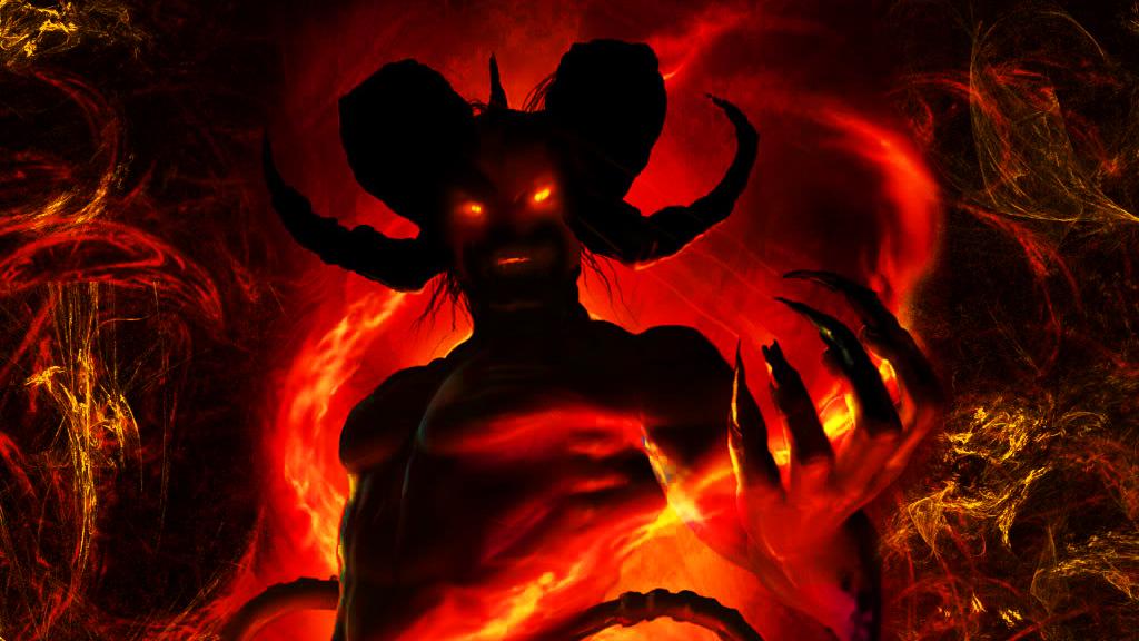 Ilustrasi Iblis Seram penggodamanusia
