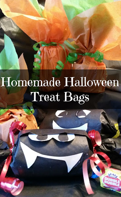 Homemade Halloween Treat bags