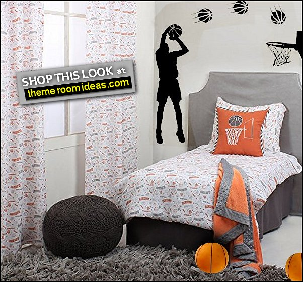Basketball Decor Basketball Players  wall decal basketball bedding sports bedrooms