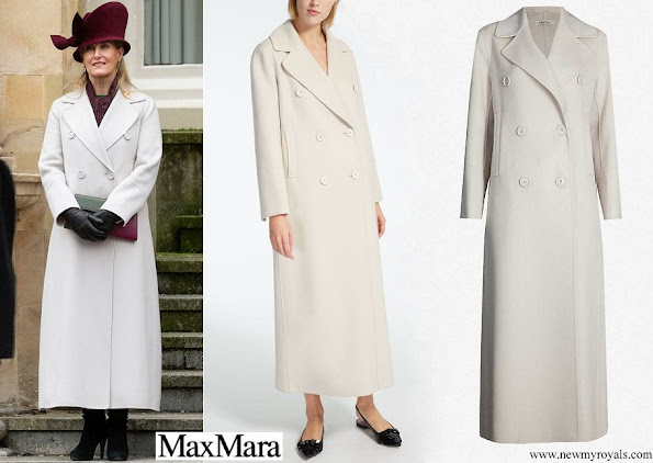 The Countess of Wessex wore MAX MARA Custodi double-breasted wool coat