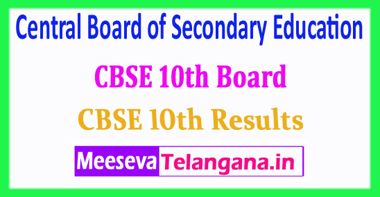 CBSE 10th Central Board of Secondary Education CBSE 10th Result 2018