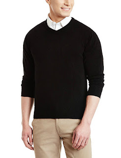 Plain Black Full winter wear sweater for winters