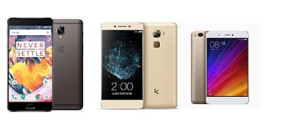 Compare - OnePlus 3T vs LeEco Le Pro 3 vs Xiaomi Mi5s