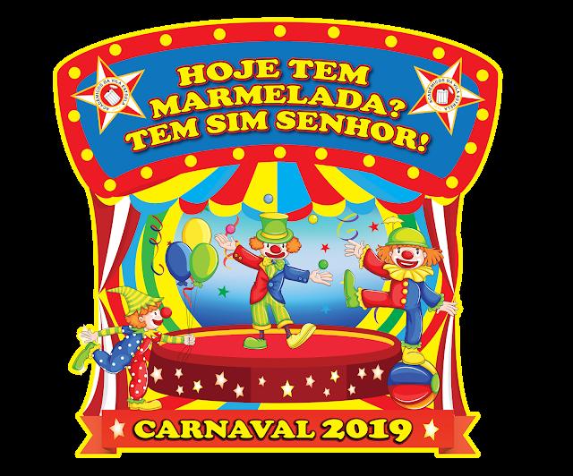 """"""" Hoje Tem Marmelada? Tem Sim Senhor"""", Bloco Caricato Vila Estrela tem como enredo o circo em seu desfile de 2019 em BH."""