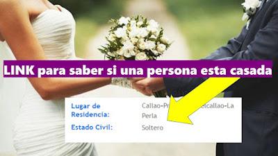 Como saber si una persona está casada ESTADO CIVIL solo el nombre