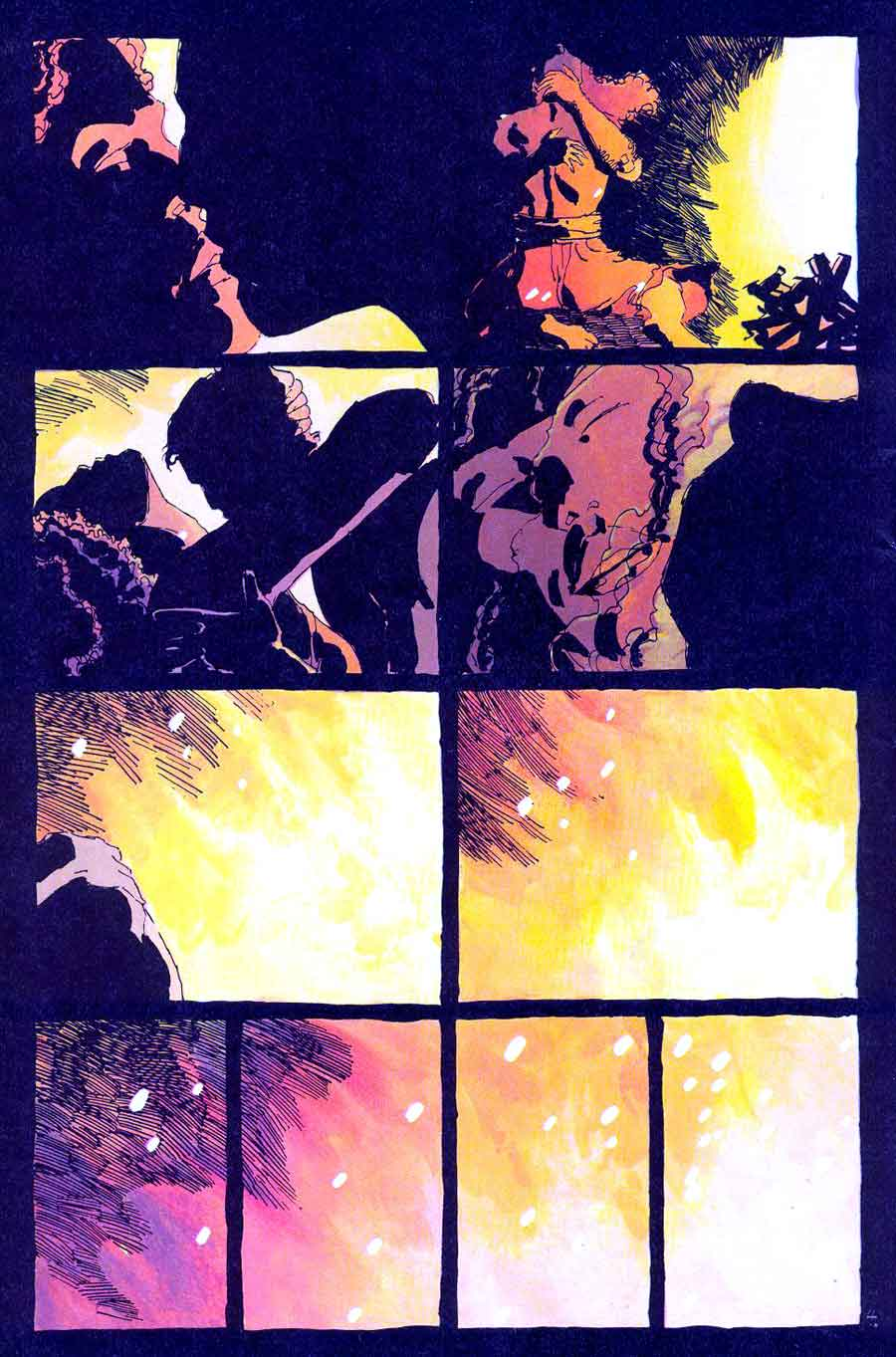 Ronin v1 #5 dc comic book page art by Frank Miller