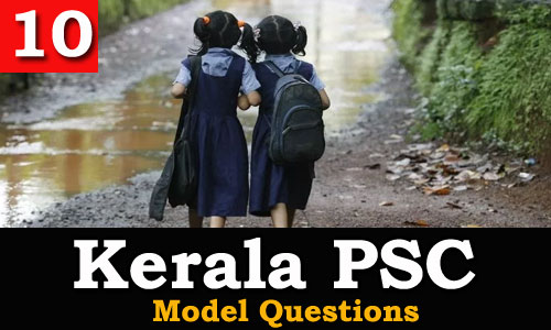 Kerala PSC - Model Questions English - 10