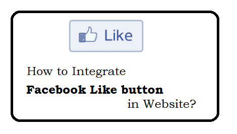 How to integrate facebook like button  in website