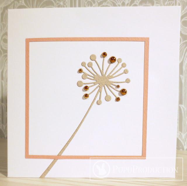 Simple card with Chandra Stem die-cut