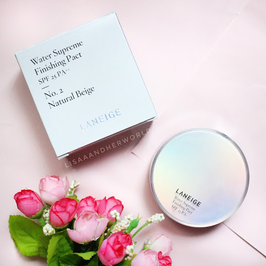 Laneige Water Supreme Finishing Pact No. 2 Natural Beige Review (Bahasa Indonesia)