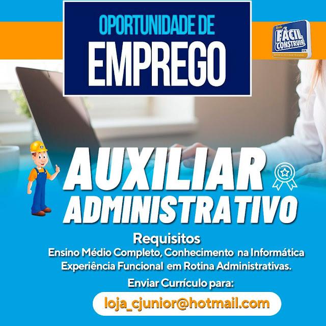 Oportunidade de emprego em Caraúbas