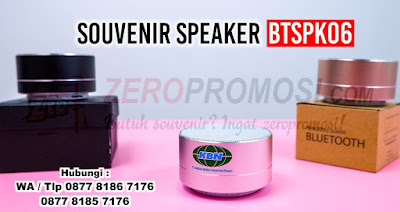 Speaker Bluetooth Aluminium BTSPK06, Souvenir Speaker Bluetooth ( BTSPK06 ), Bluetooth Speaker A-10 yang dapat dicetak custom logo