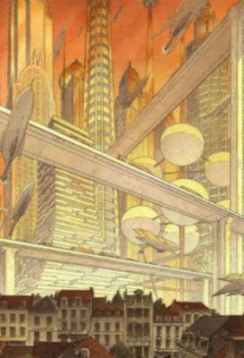 Futurismo y tradición en las ilustraciones de Françoise Schuiten