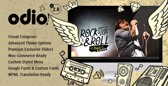 Download Free Odio v3.9 – Music WP Theme For Bands, Clubs, and Musicians