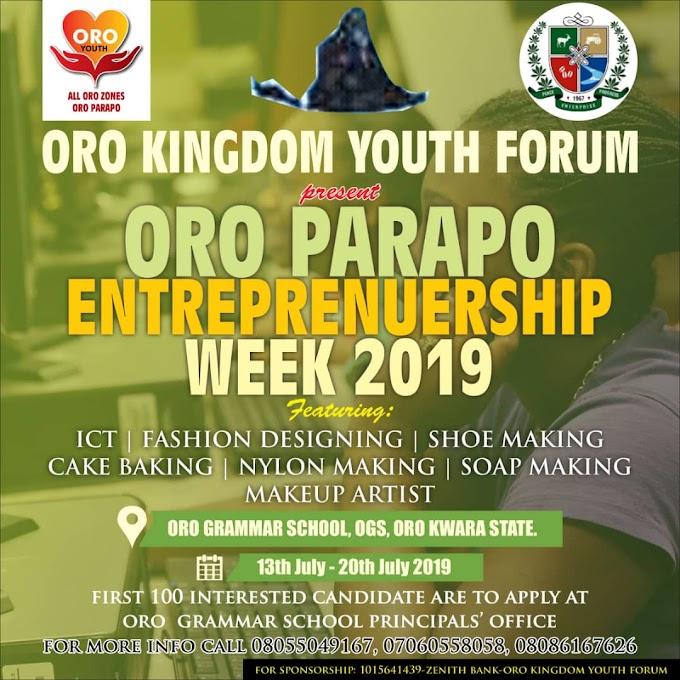 ORO PARAPO ENTREPRENEURSHIP WEEK 2019