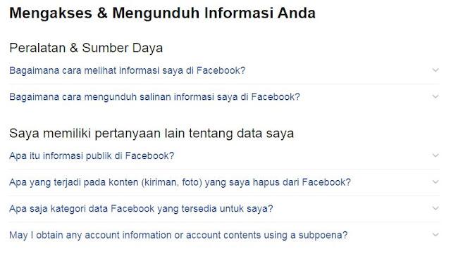 kamu juga bisa tahu data apa saja yang disimpan di facebook
