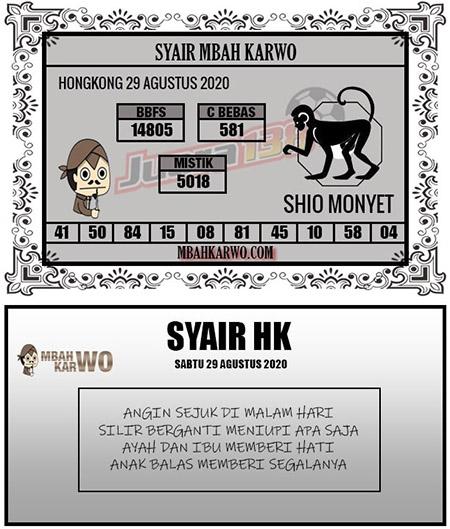 Syair Mbah Karwo HK Sabtu