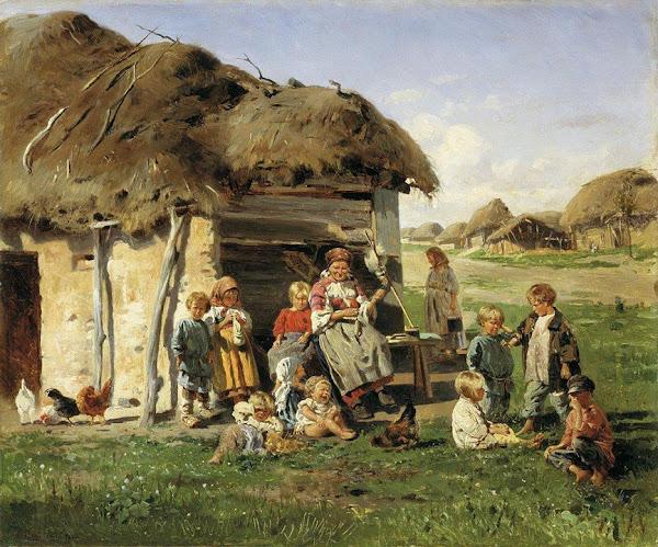 Маковский Владимир Егорович - Крестьянские дети. 1890