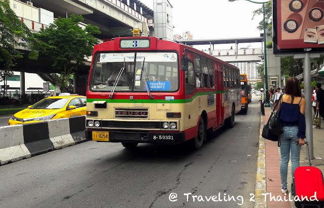 Bus to Don Muang Airport in Bangkok, Thailand