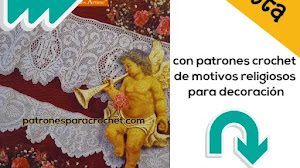 Revista de patrones crochet para decoración: Motivos religiosos