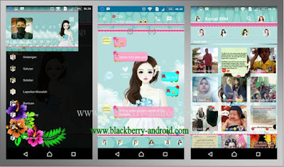 BBM Mod Blue Girl Themes New V.2.12.0.11 Apk