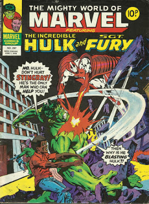Mighty World of marvel #297, Hulk vs Stingray