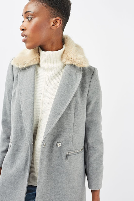 fur collar grey coat