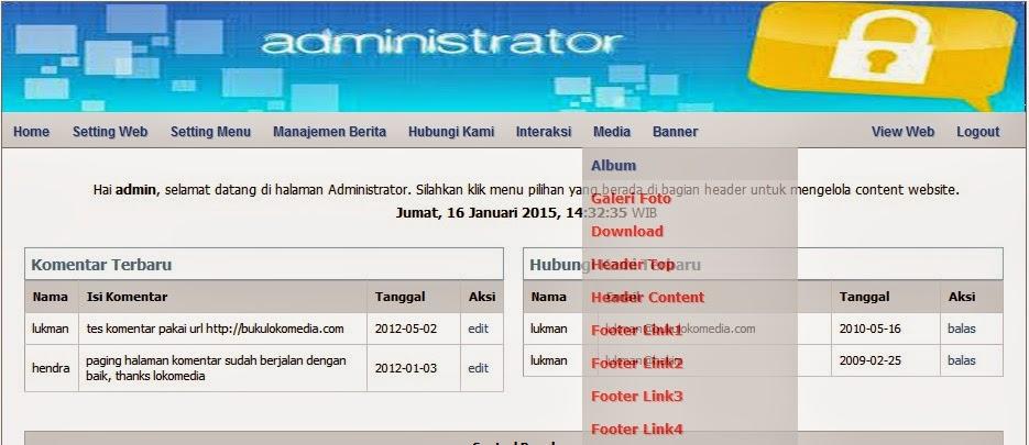 modul adminweb cms lokomedia lengkap