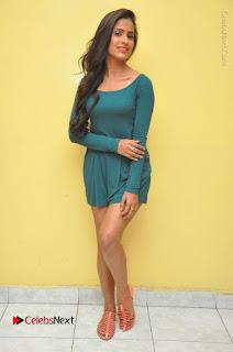 Telugu Actress Prasanthi Stills in Green Short Dress at Swachh Hyderabad Cricket Press Meet  0128.JPG