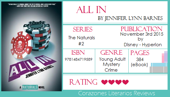 #BookReview: All In by Jennifer Lynn Barnes
