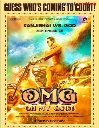 Poster Of OMG: Oh My God! 2012 Hindi 400MB BRRip 480p Free Download Watch Online