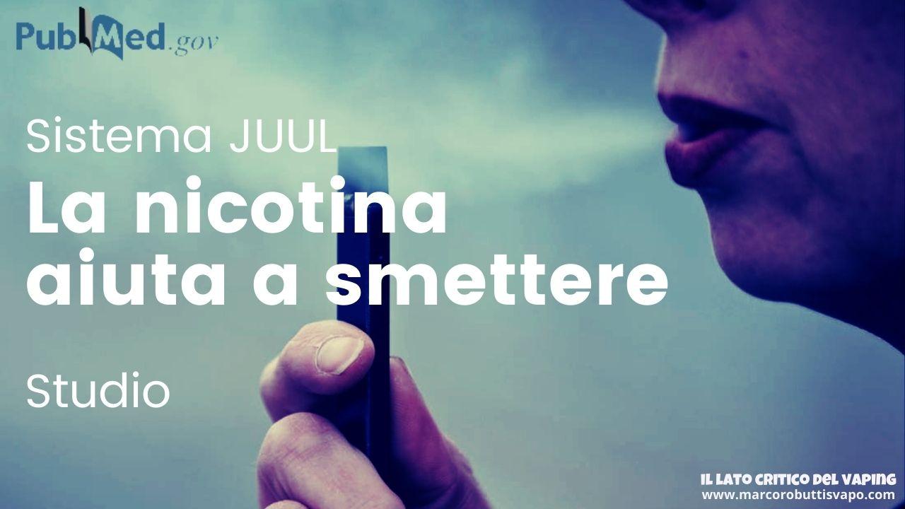 JUUL nicotina smettere di fumare studio