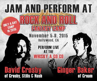 Rock and Roll Fantasy Camp with David Crosby and Ginger Baker in Los Angeles, CA