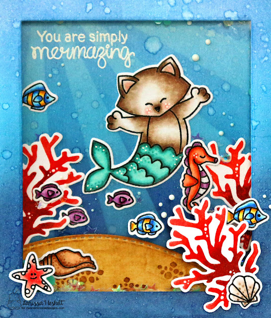 You Are Simply Mermazing by Larissa Heskett for Newton's Nook Designs  #newtonsnook #newtonsnookdesigns #purrmaid #manateerific #narlymermaids