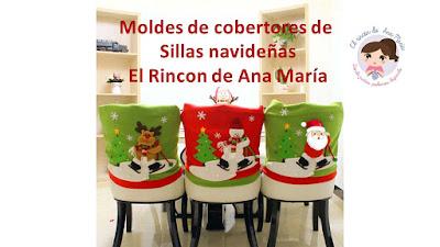 El Rincon De Ana Maria Cubre Sillas Navideños Moldes Y