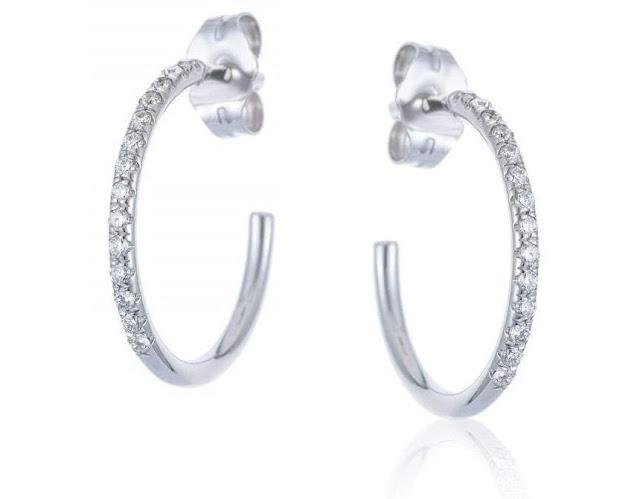 Diamond C-Hoop Earrings