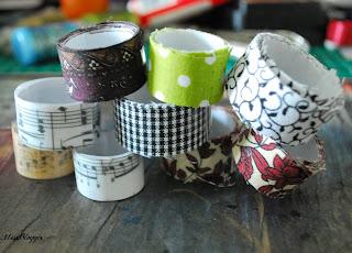Anleitung: selbstklebende Stoffbänder selber machen