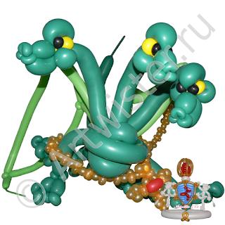 фигура из воздушных шаров змей горыныч