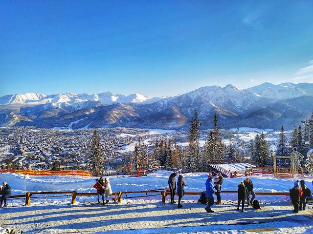 stoki narciarskie na Gubałówce, wjazd na szczyt
