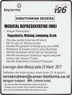 Lowongan Kerja Biofarma Semua Jurusan