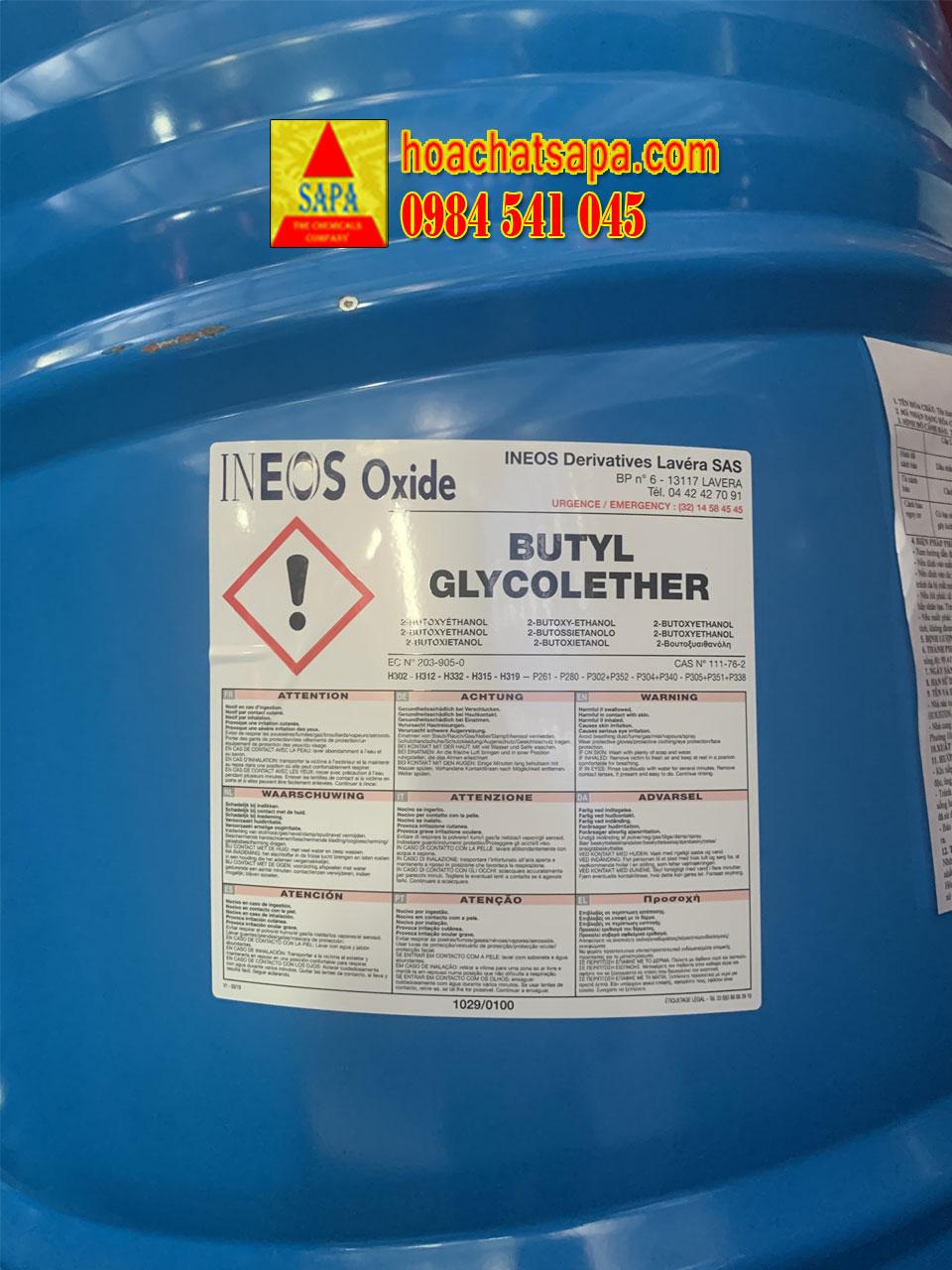 BUTYL GLYCOLETHER - BCS INEOS (Pháp)