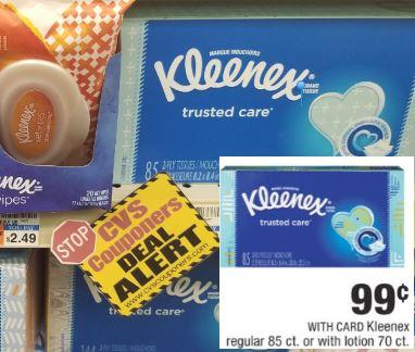 Kleenex Facial Tissue CVS Coupon Deal $0.24 10-13-10-19