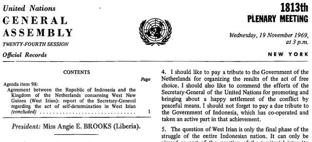 Penyelenggaraan PEPERA Tahun 1969 di Papua dan Keputusannya