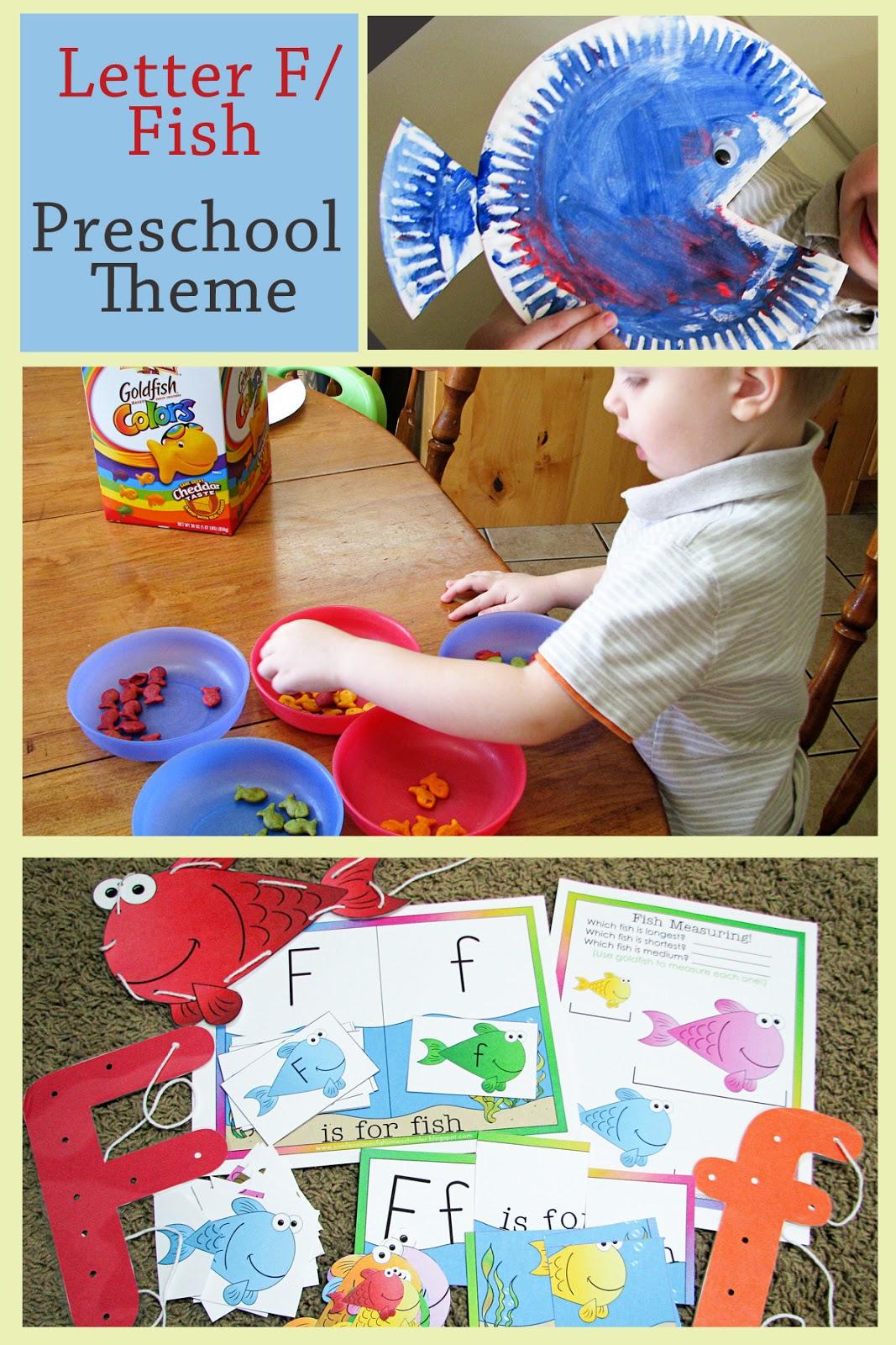 Mommy S Little Helper Letter F Fish Preschool Theme