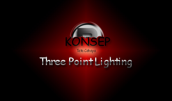 Konsep Tata Cahaya Three Point Lighting